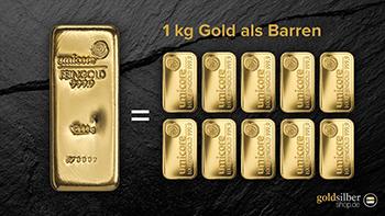 1kg Gold als Barren