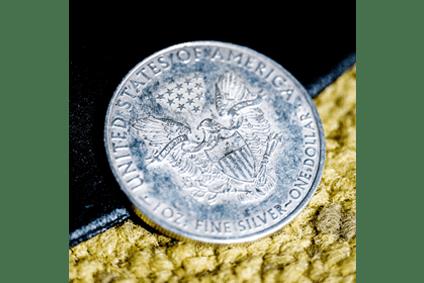 Amerikanische One Dollar Silbermünze