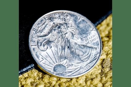 Amerikanische Silbermünze