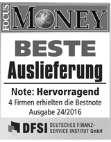 FOCUS Money Goldsparplan Test - Beste Auslieferung 2016