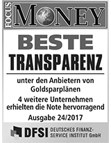 FOCUS Money Goldsparplan Test - Beste Transparenz 2017