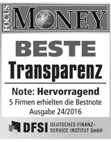 FOCUS Money Goldsparplan Test - Beste Transparenz 2016