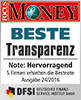 Focus Money Siegel SOLIT - Beste Transparenz