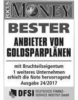FOCUS Money Goldsparplan Test 2017 - Anbieter von Goldsparplänen 2017