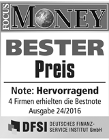 FOCUS Money Goldsparplan Test - Bester Preis 2016