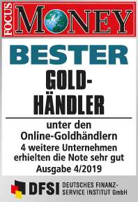 Focus Money - Bester Goldhändler 2019 - GoldSilberShop.de