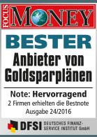 SOLIT Gruppe | Bester Anbieter von Goldsparplänen 2016