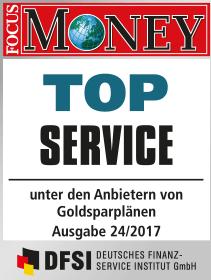 Focus Money Test Goldsparplananbieter 2017 - SOLIT Gruppe - Top Service