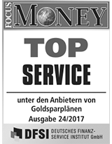FOCUS Money Goldsparplan Test - Top Service 2017