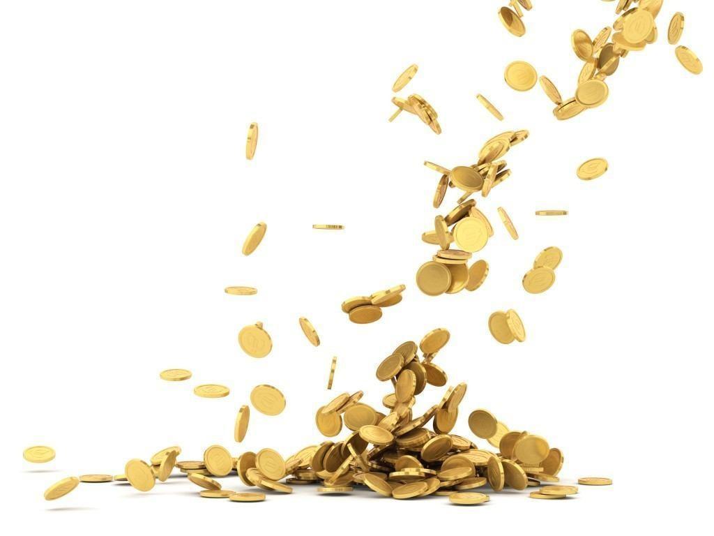 Regen aus Goldmünzen