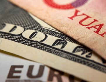 Papiergeld, Dollar und Euro