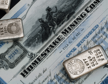 Silberbarren und Papiergeld