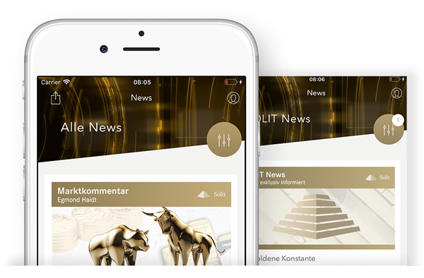 SOLIT App - News-Screen Übersicht