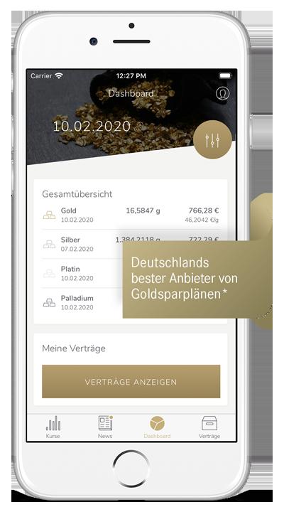 SOLIT App Teaser - Deutschlands bester Anbieter von Goldsparplänen jetzt auch als App