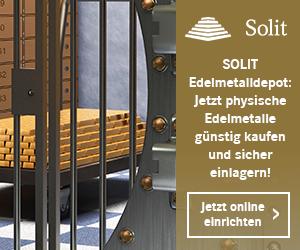 SOLIT Edelmetalldepot: Jetzt Gold & Silber günstig kaufen und sicher einlagern!