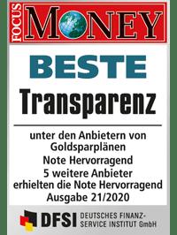 SOLIT Bester Anbieter Goldsparpläne 2020 Beste Transparenz 200x266