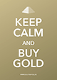 Keep calm and buy gold - Karte