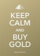 Keep calm and buy gold - Karte