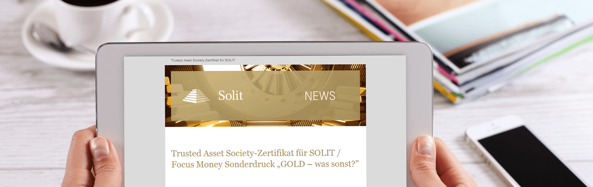 Newsletter SOLIT - Sliderbild