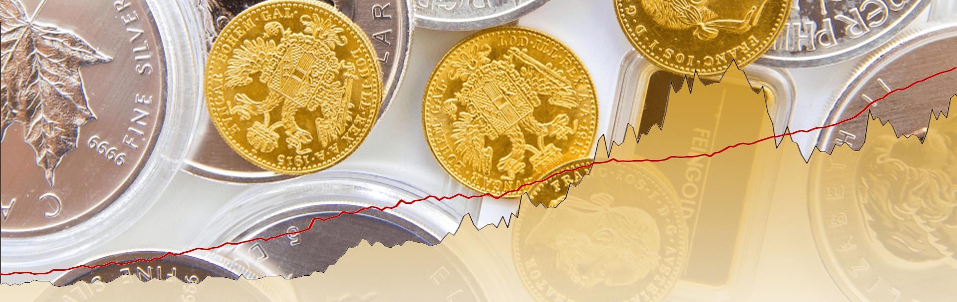 Headerbild - Wertgewinn von Edelmetallen gleich Wertverlust der Währungen